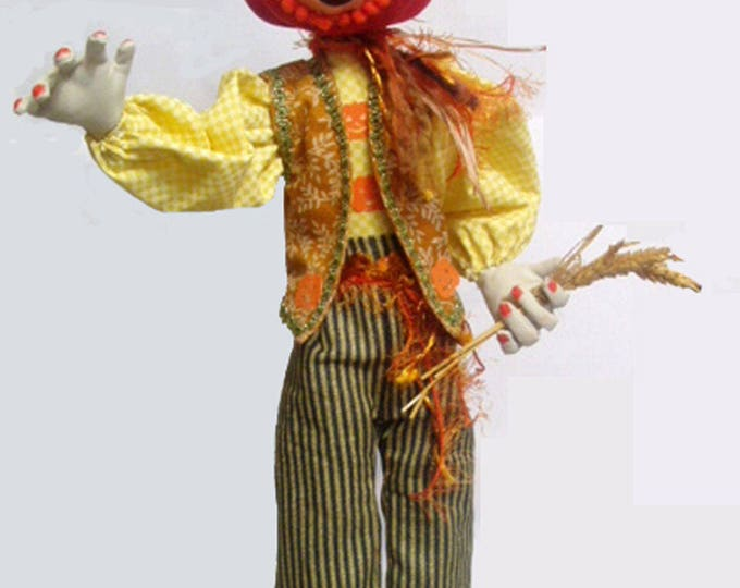 MM255E – Jack O' Pumpkin - HALLOWEEN DOLL, Cloth Doll Making Pattern, PDF Download Sewing Pattern