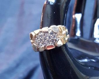 Men's Diamond Nugget Ring