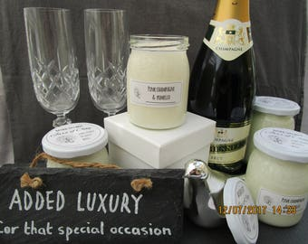 Luxury Pink Champagne & Pomello scented Soy Candle