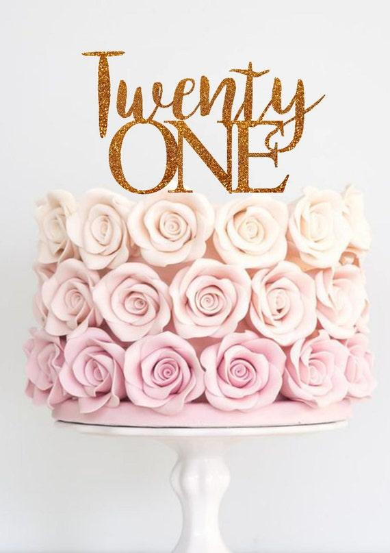 Twenty One Birthday Cake Topper