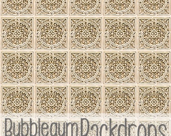 Old Stone Tile - Exclusive - Vinyl Photography Backdrop Floordrop Prop
