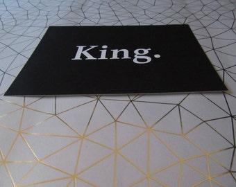 King. postcard
