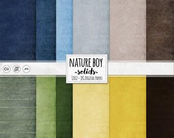 Farm Boy Digital Paper, Nature Boy Digital Background, Grass Green, Dirt Brown, Sunshine Yellow, Sky Blue, Digital Cardstock Paper