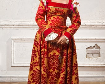 """Women's Historical Costume - """"Venetian Princess"""" - made to order, elegant period dress in the style of Italian fashion of the 16th century"""