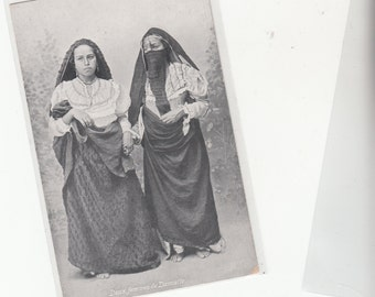 Two Circa 1910 Young Egyptian Women In Native/Ethnic Dress/Costume