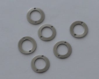 10 loops links donut 13x1mm stainless steel - Ref: ALA 608