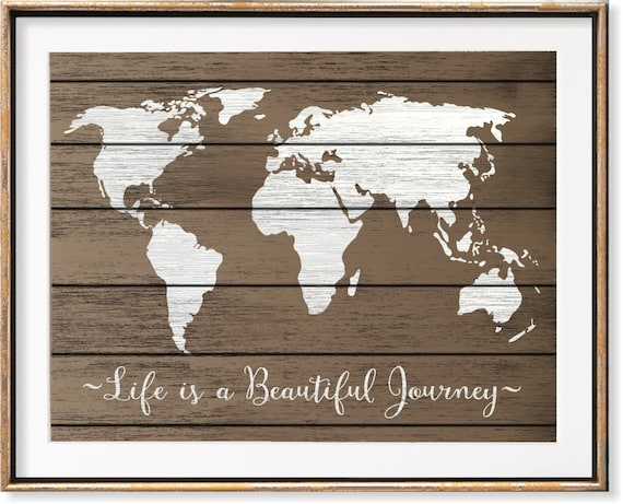 Couples travel map rustic world map wall art wanderlust like this item gumiabroncs Image collections