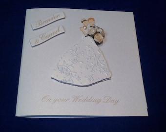 Carte de mariage fait à la main - personnalisé mariage carte - carte de mariage personnalisée - mariage personnalisé
