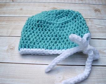 Baby Scrub Hat, Crochet Baby Hat, Newborn Hat, Infant Hat, Baby Boy Hat, Baby Halloween Hat, Baby Girl Hat, Baby Photo Prop, Boy Scrub Hat
