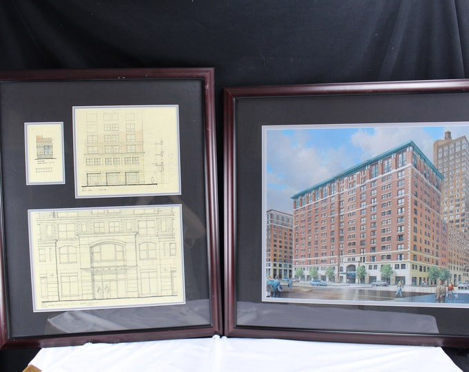 Art Drawings Gilbert Gorski Battery Park City NY Original Architecture The Solaire Building