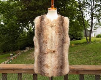 Vintage Country Pacer Faux Fur Vest Women's M / Men's S