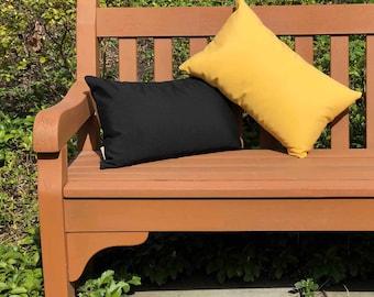Sunbrella Buttercup Yellow 12x20 Outdoor Pillow