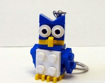 Mini Blue Owl Key chain