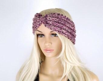 Knit Headband, Handmade Head wrap, Winter Headband, Knit Earwarmer, Boho Headband