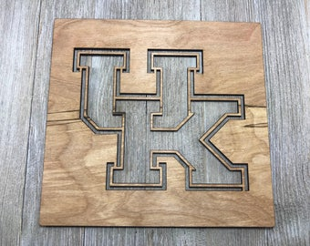 Kentucky Wildcats UK Logo stencil / wood stencil / Laser cut