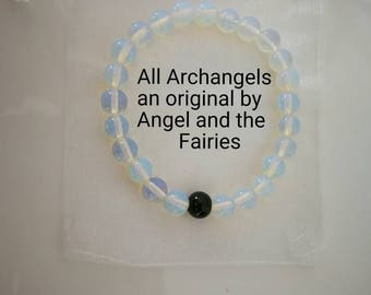 Code 636 Archangel Bag All the Archangels Opalite bracelet quartz Archangel an original by Angel and the Fairies
