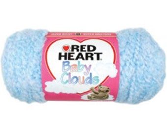 New Red Heart Baby Clouds Yarn - Blue Sky 6 oz Skein