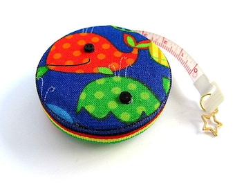 Measuring Tape Rainbow Whales Retractable Pocket Tape Measure
