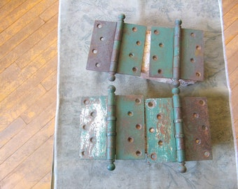 Four industrial hinges