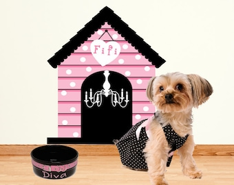 Dog House Wall Decal Sticker Medium