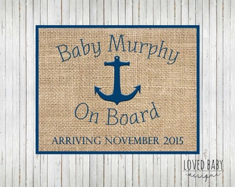 nautical baby announcement new baby announcement sign diy printable