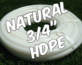 "3/4"" HDPE hula hoop tubing roll - Make your own hoops!  Comes with insert material 50 ft or 100 ft"