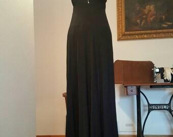 Wonderful black gown in shiffon Empire
