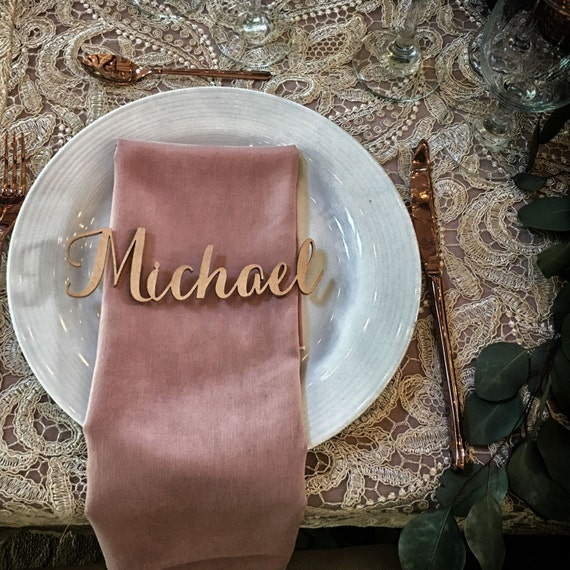 Guest Names, Laser Cut Names, Guest Setting, Place Setting, Wedding Place Card, Guest Seating, Place Card, Custom Name Place Setting