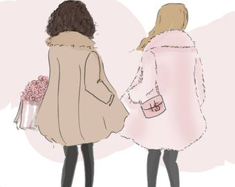 Best Friends are Always By Your Side- Art for Women - Quotes for Women  - Art for Women - Inspirational Art