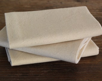 Organic Cheese Draining Straining Cloth -- Organic unbleached cotton muslin and organic unbleached cotton thread, Choose Your Quantity