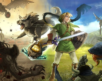 Legend of Zelda Twilight Princess fine art prints