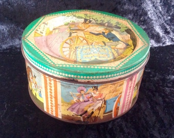 Vintage Quality Street Tin. Sword Sharpener Toffee Tin. 1950's.