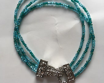 Blue and Teal Strand Bracelet