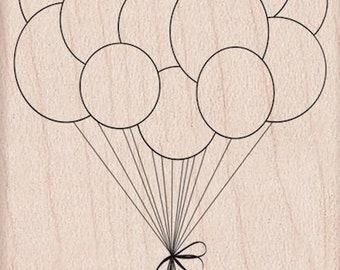 Rubber Stamp-Birthday Balloons, Hero Arts