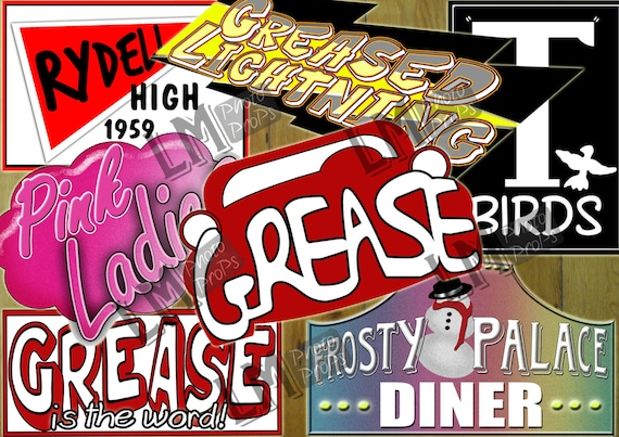 Grease Theme Party Prop Files Fifties Sixties Grease Movie