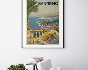 Sanremo - Vintage Print - Italian Collection