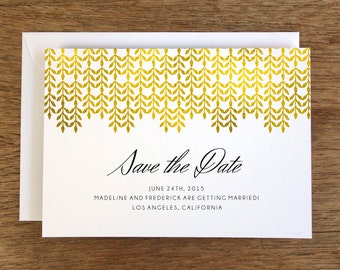Printable Save the Date Card - Save the Date Template - Instant Download - Save the Date PDF - Gold Save the Date - Gold Effect - Golden PDF