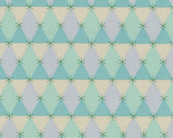 Flutter - Prism Aqua - Melody Miller - Cotton and Steel Fabrics - Fabric by the Half Yard