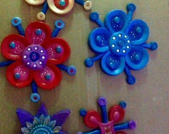 Flower Fridge Magnet ~ various colours