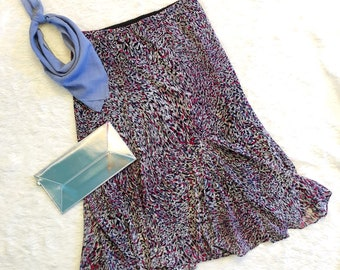 Multi-color Skirt Abstract Floral Pattern - Brand: east 5th - Size Medium