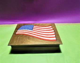 Usa Wooden jewelry box. United States of America Flag, USA, American Flag, Wooden Box, Jewerly,Handcrafted,Customized,usa box, US Flag