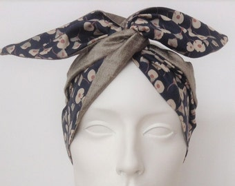 Wired Headband: Flowers and silk