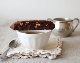 Chocolate Cashew Chili Biscotti, Biscotti Cookies