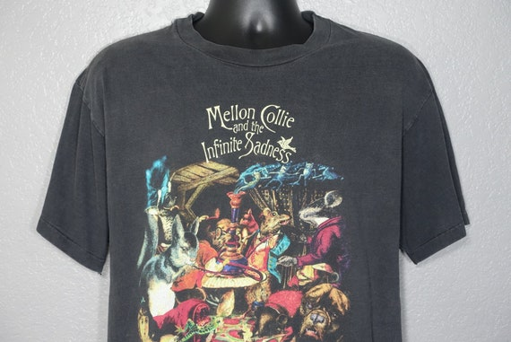 1996 Smashing Pumpkins - Mellon Collie and the Infinite Sadness Tour - Double Sided Skull Cross Bones Vintage Concert T-Shirt