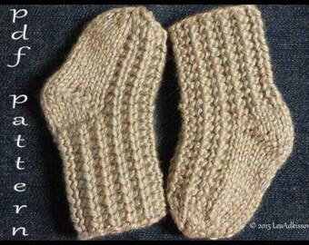 "Easy Knitted Baby Sock Pattern ""KIPPER"""