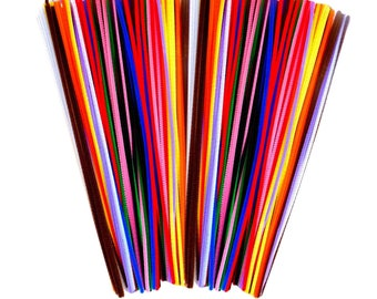 Pipe cleaners Chenille Stems Assorted Colours 300mm x 4mm 100 in 10 assorted colours