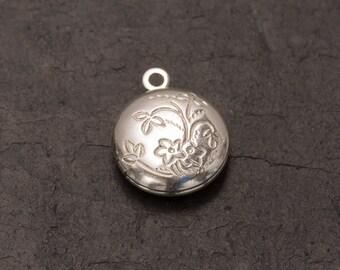 mini locket charm, silver plated locket, working locket, charm jewellery, jewellery making, diy jewelry, pack of 5, craft supplies, bracelet