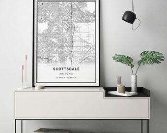 Scottsdale city map Etsy