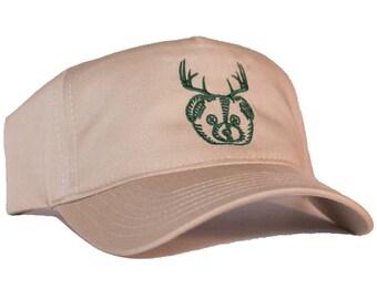 Beer Bear Deer Antlers Embroidered 5-Panel Hat/Cap
