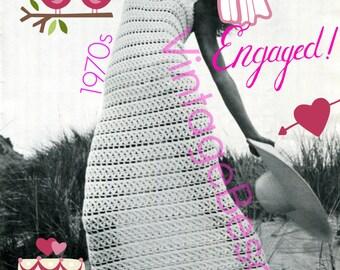 Dress Crochet Pattern • INSTANT DOWNlOAD • PdF Pattern • Vintage 70s Patio Dress Crochet Pattern Summer Cover Up Crochet Pattern Maxi Dress